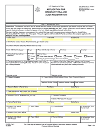 Application for Immigrant Visa and Alien Registration (DS-230)